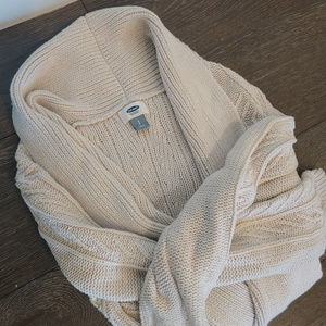 Oatmeal Knit Cardigan from Old Navy (size small)